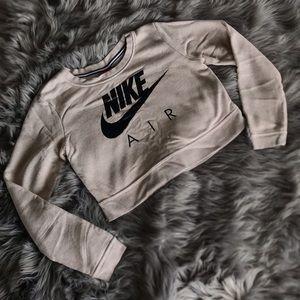 Nike Cream Crop Crewneck Sweatshirt